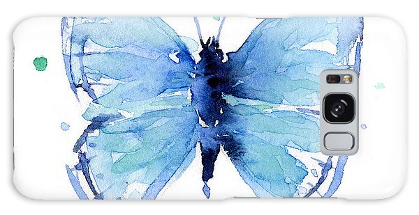 Insect Galaxy Case - Blue Watercolor Butterfly by Olga Shvartsur