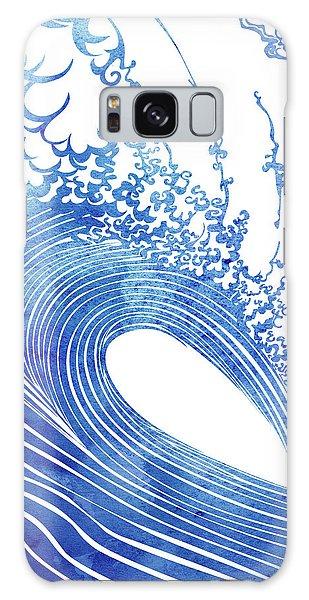 Blue Wave Galaxy Case