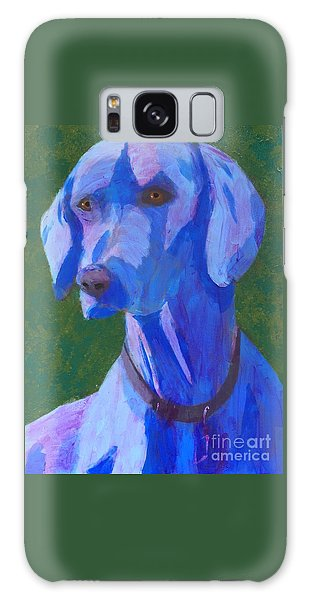 Blue Weimaraner Galaxy Case