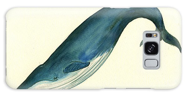 Blue Whale Painting Galaxy Case