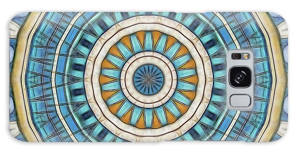 Galaxy Case featuring the digital art Blue Wheeler 1 by Wendy J St Christopher