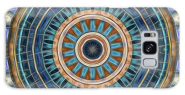 Galaxy Case featuring the digital art Blue Wheeler 2 by Wendy J St Christopher