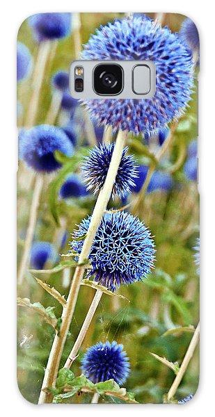 Blue Wild Thistle Galaxy Case