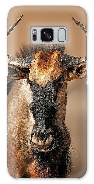 Close Up Galaxy Case - Blue Wildebeest Portrait by Johan Swanepoel