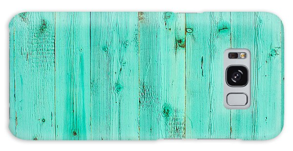 Blue Wooden Planks Galaxy Case by John Williams