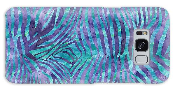 Blue Zebra Print Galaxy Case