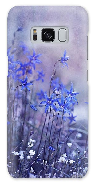 White Galaxy Case - Bluebell Heaven by Priska Wettstein