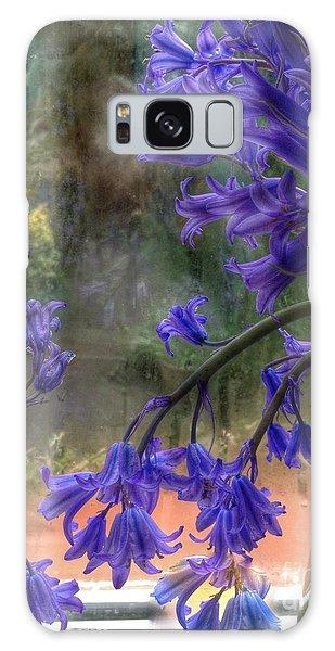 Bluebells In My Garden Window Galaxy Case