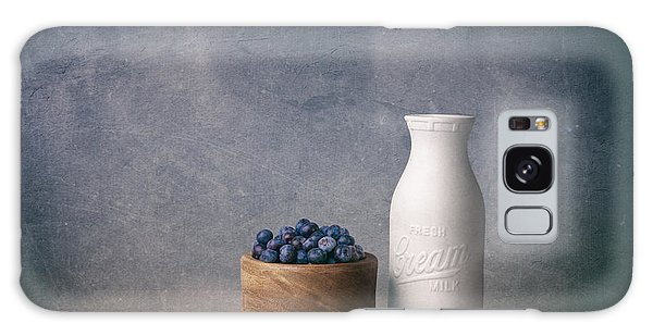 Blueberries And Cream Galaxy Case