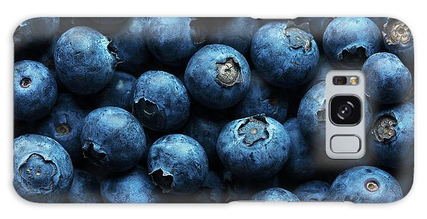 Herbs Galaxy Case - Blueberries Background Close-up by Johan Swanepoel