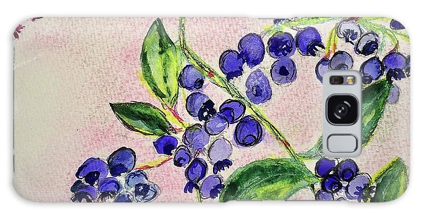 Blueberries Galaxy Case by Kim Nelson