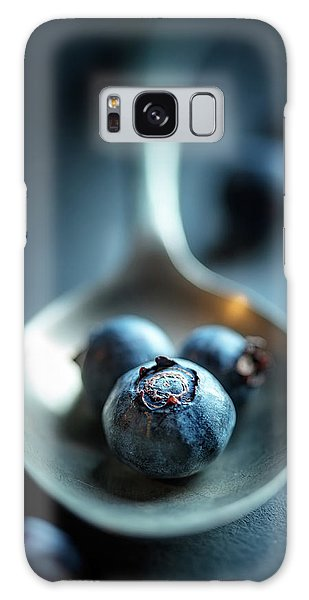 Herbs Galaxy Case - Blueberries Macro Still Life by Johan Swanepoel
