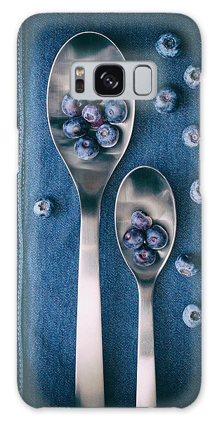Blueberries On Denim I Galaxy Case