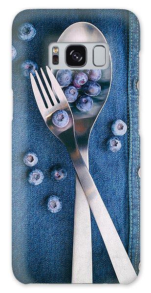 Blueberries On Denim II Galaxy Case