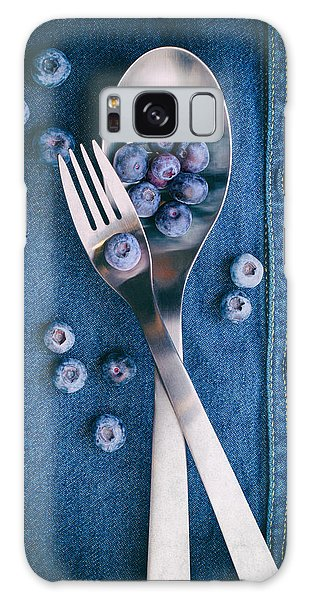 Food Galaxy Case - Blueberries On Denim II by Tom Mc Nemar