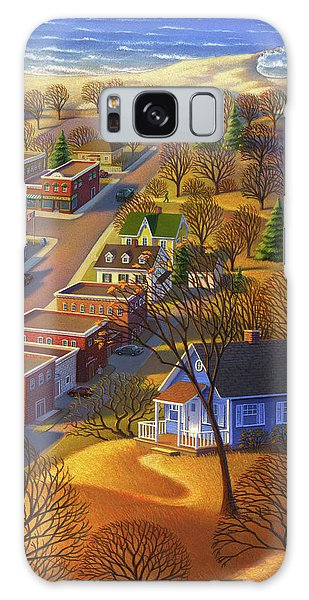 Blueberry Cottage Hill  Galaxy Case
