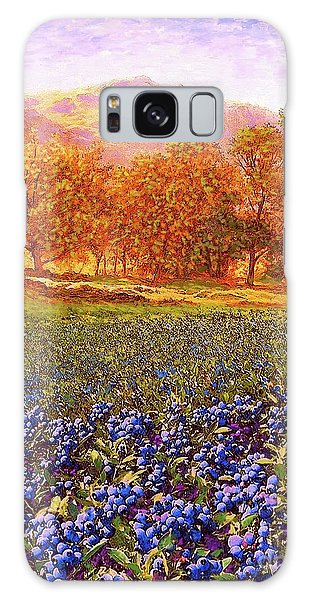 Foliage Galaxy Case - Blueberry Fields Season Of Blueberries by Jane Small