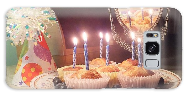 Blueberry Muffin Birthday Galaxy Case