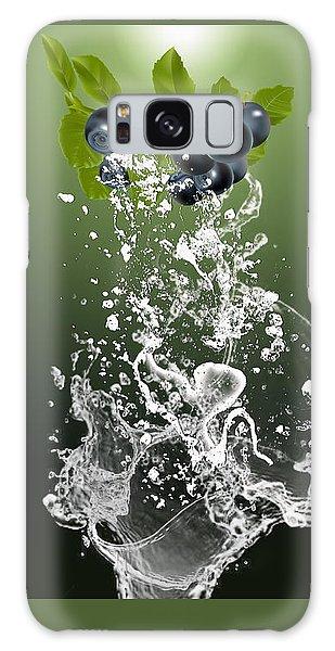 Blueberry Splash Galaxy Case by Marvin Blaine