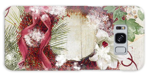 Amaryllis Galaxy Case - Bluebird Christmas I by Mindy Sommers