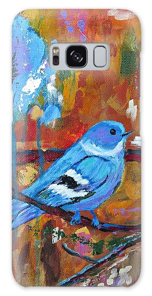 Bluebird In Autumn Galaxy Case