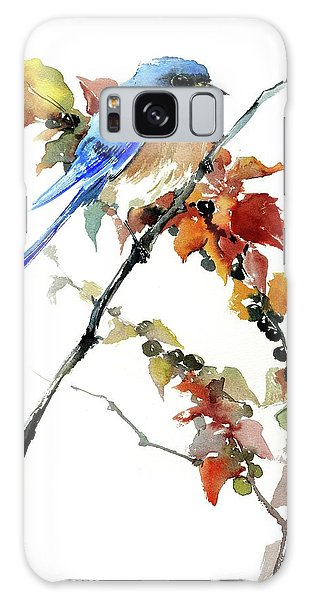Bluebird In The Fall Galaxy Case