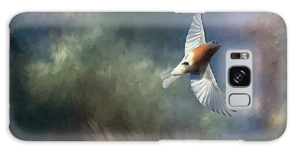 Eastern Bluebird Galaxy Case - Bluebird Of Happiness by Donna Kennedy