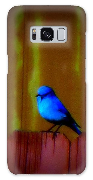 Galaxy Case featuring the photograph Bluebird Of Happiness by Karen Shackles