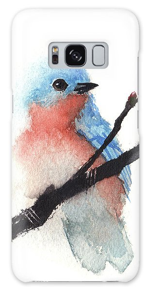 Bluebird Of Happiness Galaxy Case