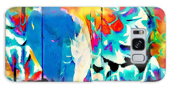 Bluebird Pop Art Galaxy Case by Tina LeCour