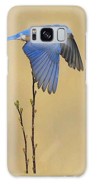 Bluebird Takes Flight Galaxy Case