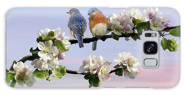 Bluebirds In Apple Tree Galaxy Case