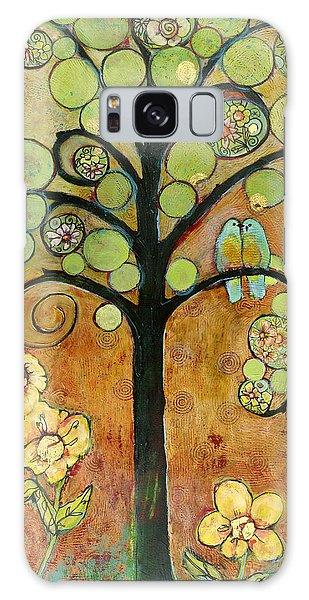 Bluebird Galaxy S8 Case - Bluebirds In Paradise Tree by Blenda Studio