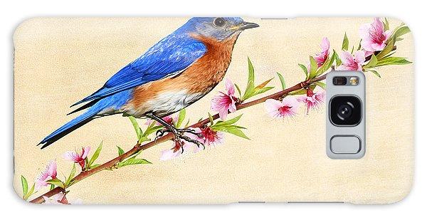 Bluebird Galaxy Case - Bluebird's Spring by Laura D Young