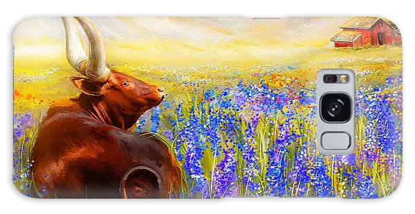 Bluebonnet Dream - Bluebonnet Paintings Galaxy Case