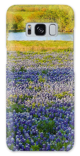 Bluebonnet Field Galaxy Case