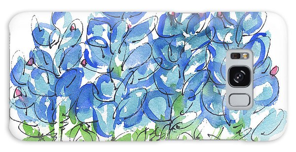 Bluebonnet Dance Whimsey,by Kathleen Mcelwaine Southern Charm Print Watercolor, Painting, Galaxy Case