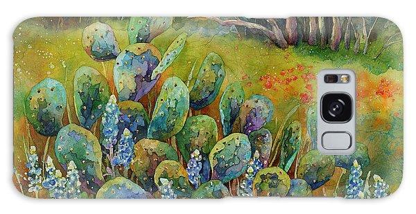 Art Deco Galaxy S8 Case - Bluebonnets And Cactus by Hailey E Herrera