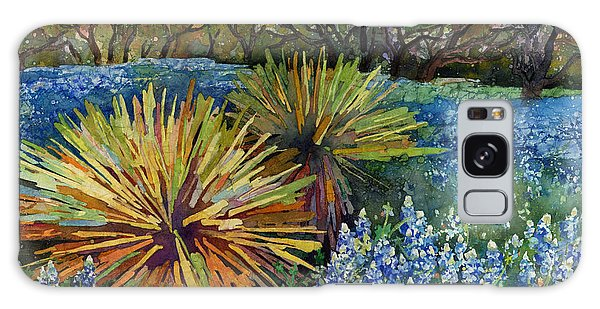 Bluebonnets And Yucca Galaxy Case by Hailey E Herrera