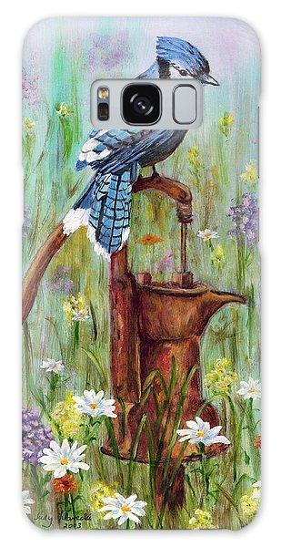 Bluejay Peaceful Perch Galaxy Case by Judy Filarecki