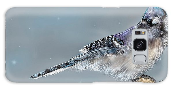 Winter Bluejay Galaxy Case