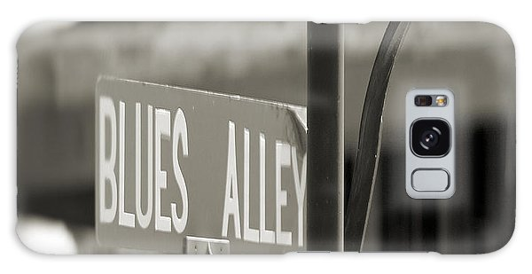 Blues Alley Street Sign Galaxy Case