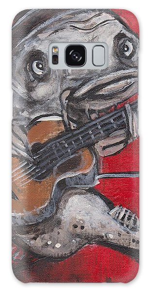 Blues Cat On Guitar Galaxy Case