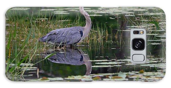 Blue's Image- Great Blue Heron Galaxy Case