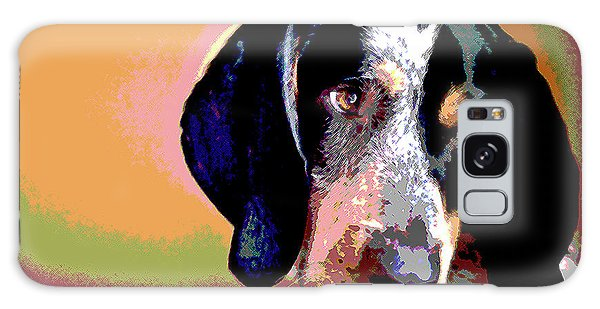 Bluetick Coonhound Galaxy Case by Charles Shoup