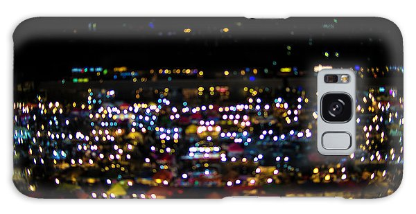 Blurred City Lights  Galaxy Case