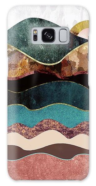 Landscapes Galaxy Case - Blush Moon by Katherine Smit