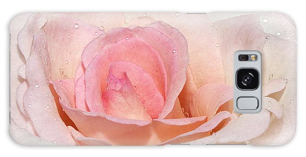 Blush Pink Dewy Rose Galaxy Case by Phyllis Denton