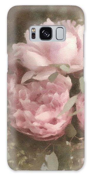 Blush Pink Peonies Galaxy Case