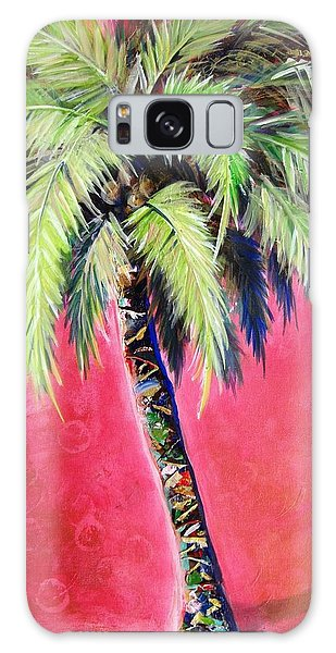 Blushing Pink Palm Galaxy Case